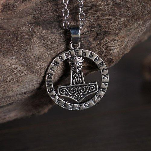 Viking Pendant Thors Hammer Viking Norse Rune Pendant