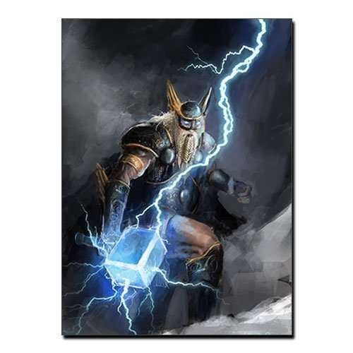 Hammer of Thor Canvas Viking Canvas Print Norse God of Thunder