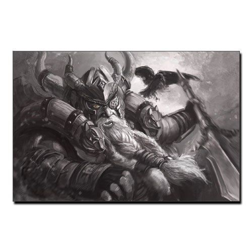 Viking Canvas Print Norse God Odin Allfather Odin Wall Art