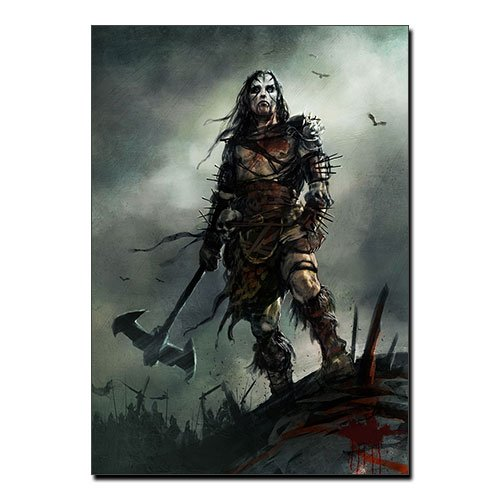 Viking Canvas Print Norse Warrior Berserk Fantasy Art Decoration