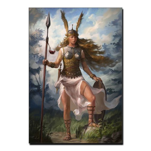 Viking Canvas Valkyrie Norse Canvas Print