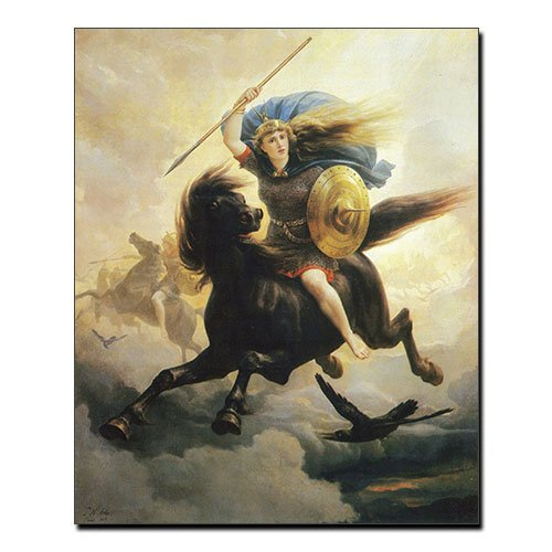 Viking Canvas Valkyrie Norse Wall Art Canvas Peter Nicolai Arbo