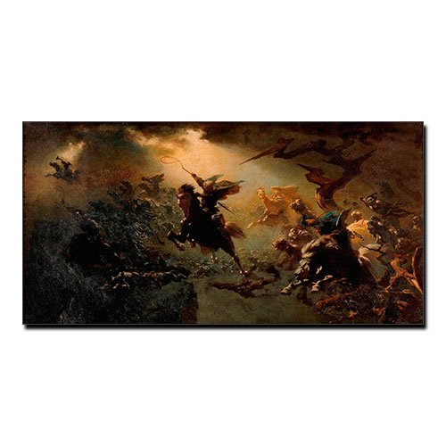 Viking Canvas Wild Hunt Johann Wilhelm Cordes Viking Wall Art