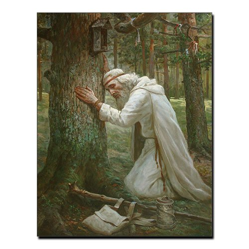 Viking Celtic Canvas Print Celtic Myths Druid
