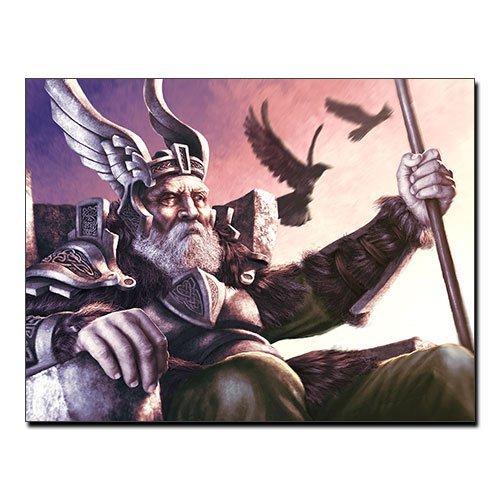 Viking Wall Art Norse God Odin Canvas