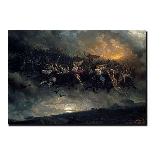 Wild Hunt Aasgaardreien Peter Nicolai Arbo Viking Canvas