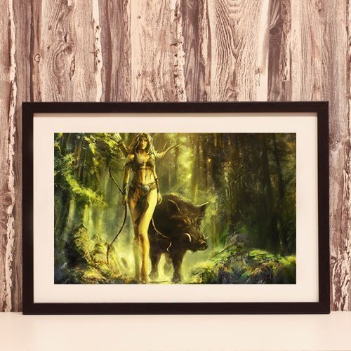 Bendis Framed Art Print Norse Goddess of The Hunt and Nature