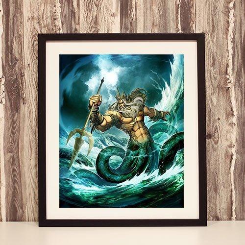 Njord Framed Art Print The God of the Sea Norse Framed Artwork