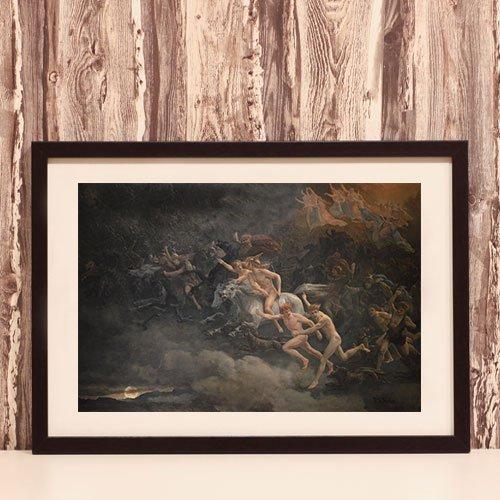 The wild Hunt of Odin Framed Art Print Peter Nicolai Arbo