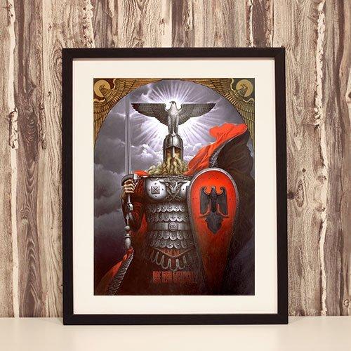 Viking Framed Art Print Medieval Knight in Аrmour