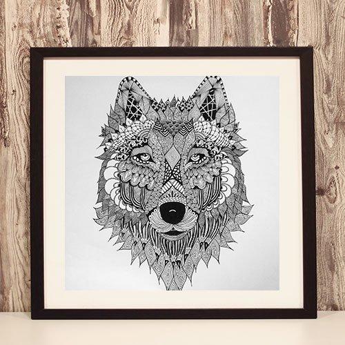 Viking Wolf Framed Art Print Norse Spirit Animal