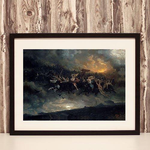 Wild Hunt Aasgaardreien Framed Art Print Peter Nicolai Arbo