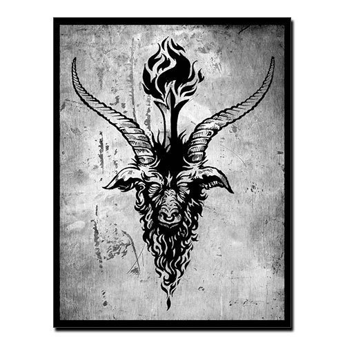 Baphomet Canvas Print Sabbatic Goat Occult Canvas
