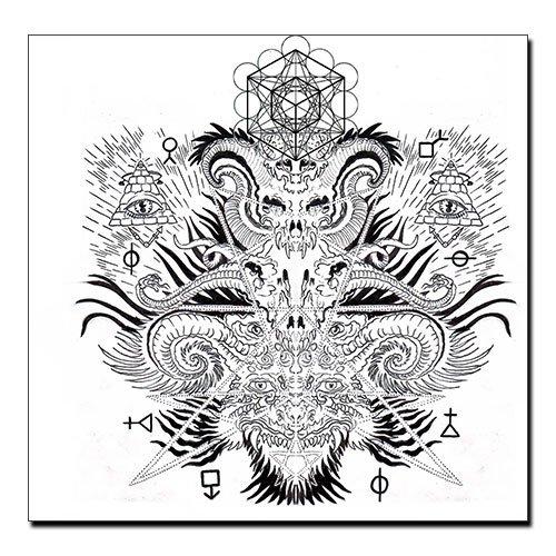 Occult Canvas Print Mystic Symbols