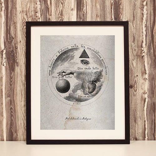 Occult Framed Art Print The All Seeing Eye of God