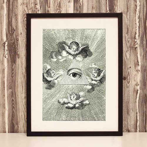 The All-Seeing Eye Framed Poster - Occult Framed Poster