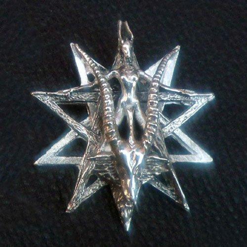 Baphomet Pentagram Pendant Satanic Goat Occult Pendant