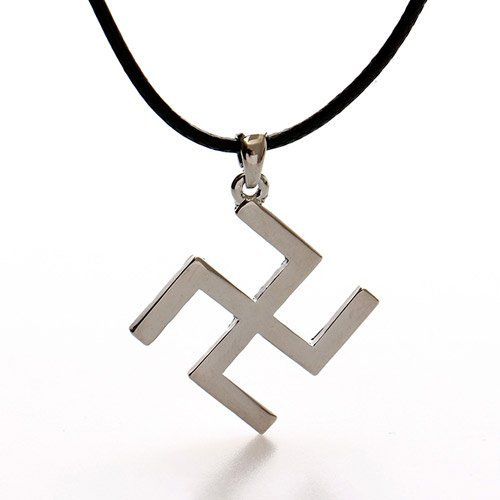 Left Hand Swastika Pagan Magic Charm