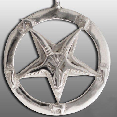 Sigil of Baphomet Pendant Occult Satanic Goat Pentacle Pendant