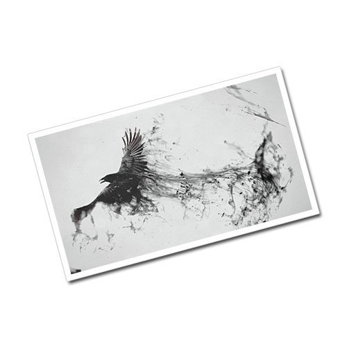 Abstract Art Raven Greeting Card Postcard