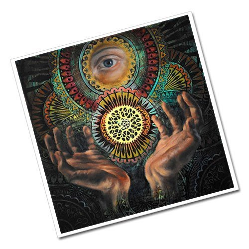 Evil Eye and Mighty Hands Occult Greeting Card Postcard