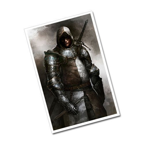 Fantasy Art Dark Knight Warrior Postcard