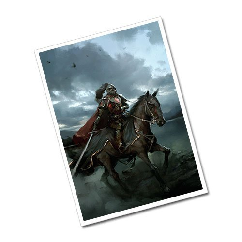 Fantasy Art Knight on Horseback Greeting Card Postcard
