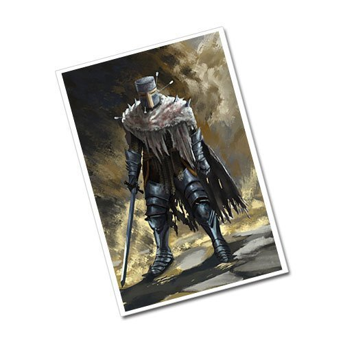 Fantasy Art Warrior Dark Knight Greeting Card Postcard