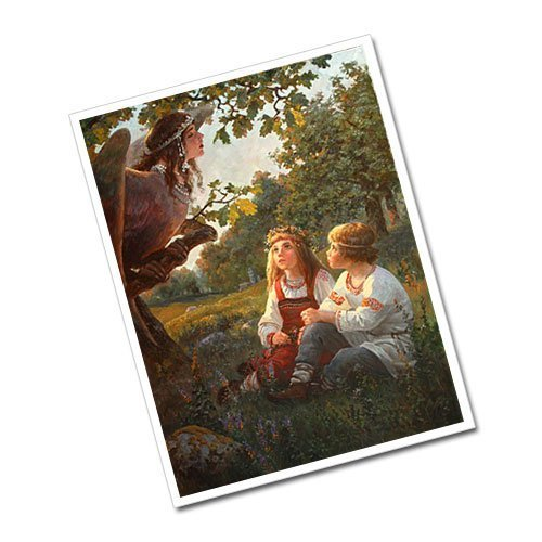 Greeting Card Slavic Gods Kupalo and Kostroma