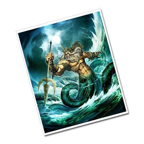 Poseidon Greeting Card Postcard