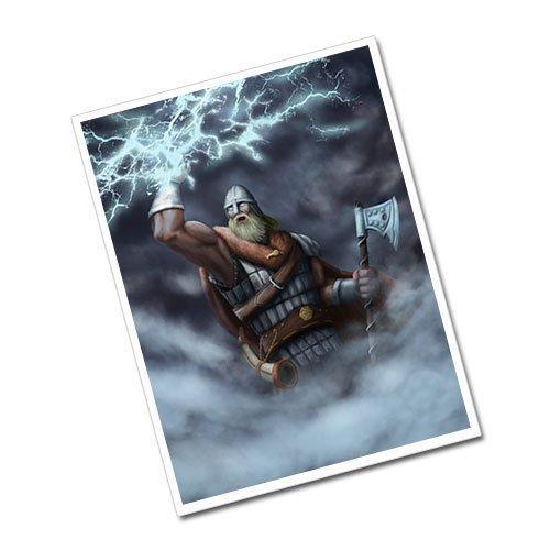 Slavic God Perun Greeting Card Postcard