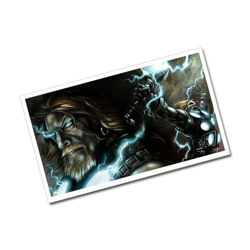 Viking Postcard Norse God of Thunder Thor Greeting Card