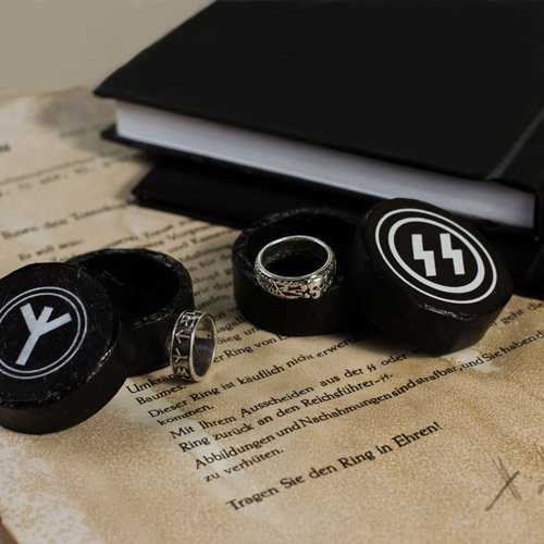 SS Totenkopf Ring, SS Wedding Ring and SS Books collection - set of 7 pcs