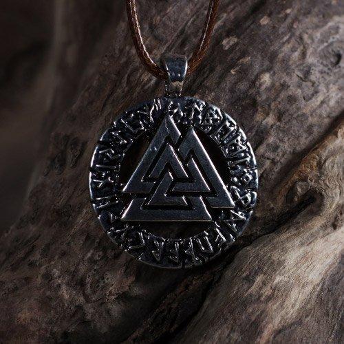 Norse Valknut Pendant Viking Runes Pendant