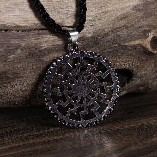 Norse Viking Black Sun Pendant Pagan Swastika Pendant