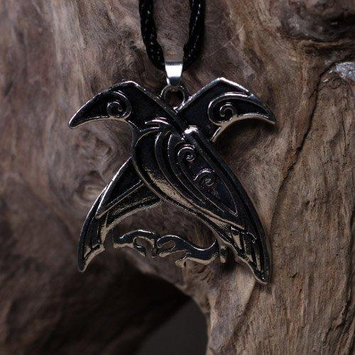 Norse Viking Odins Ravens Pendant Huginn and Muninn Pendant