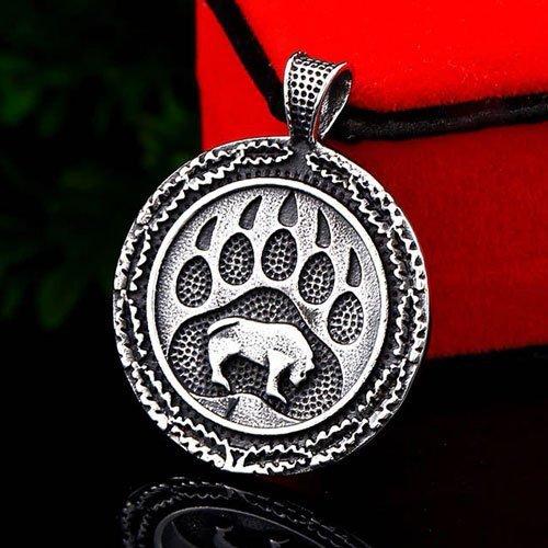 Norse Viking Pendant Bear Paw Amulet