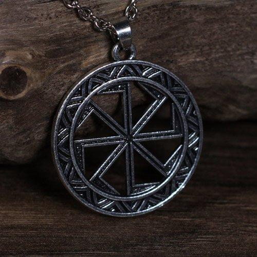 Norse Viking Pendant Sun Wheel Kolovrat
