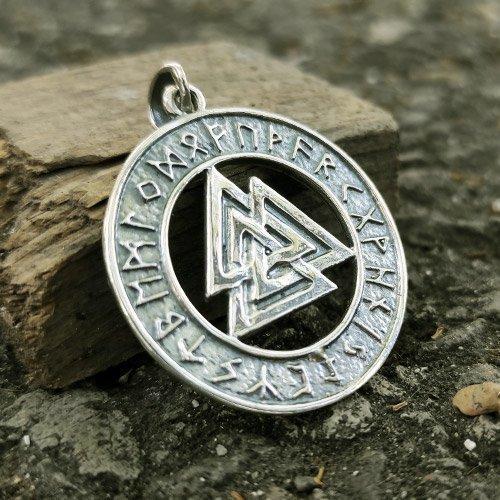 Runic Valknut Pendant Viking Odin Pendant