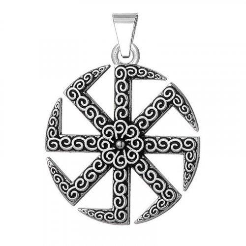 Sun Wheel Pendant Kolovrat - Norse Viking Pendant