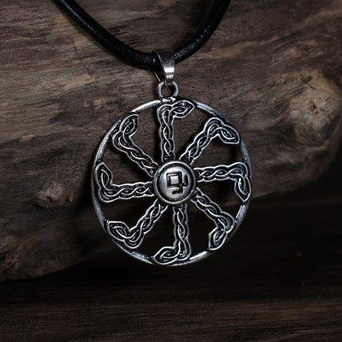 Sun Wheel Viking Swastika Pendant Odal Rune