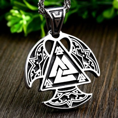 Valknut Necklace Viking Pendant Viking Jewelry
