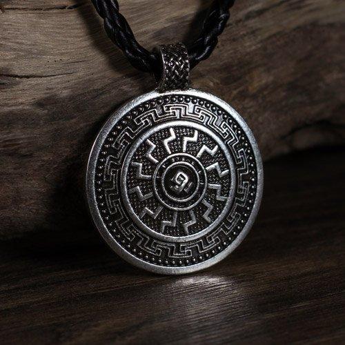 Viking Black Sun Pendant Norse Odal Rune Pendant