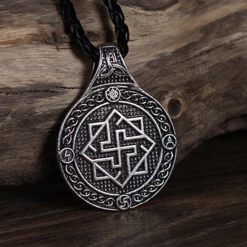 Viking Black Sun Pendant Norse Swastica Pendant