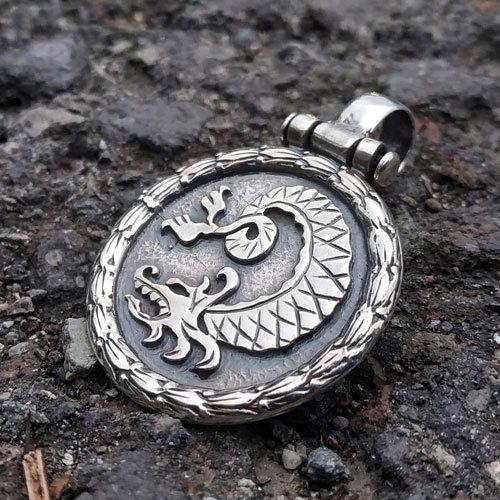 Viking Dragon Pendant One-sided Pendant