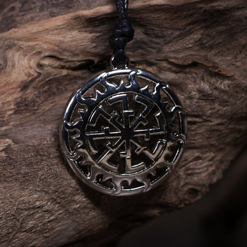 Viking Pendant Kolovrat Sun Wheel