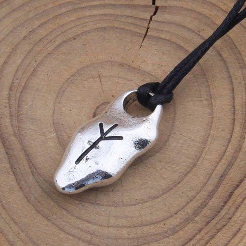 Viking Rune Pendant Elder Futhark - Algiz Rune