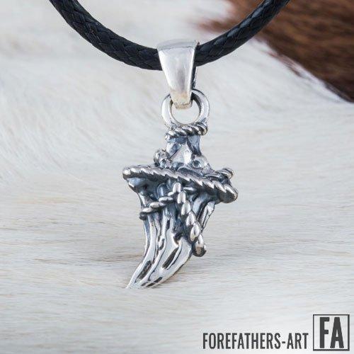 Canine Viking Pendant Necklace Magic Charm