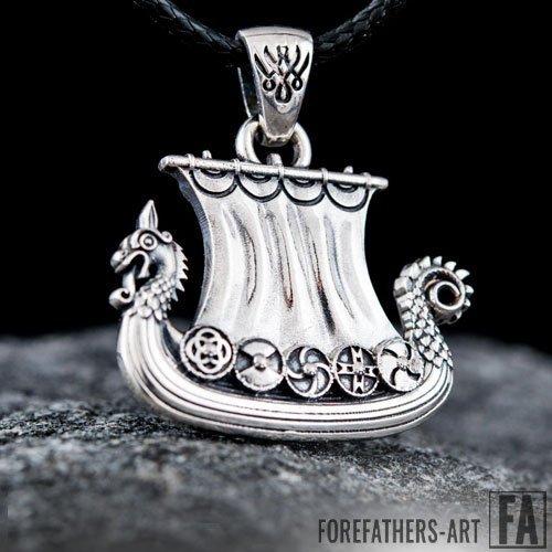 Norse Drakkar Pendant Viking Jewelry