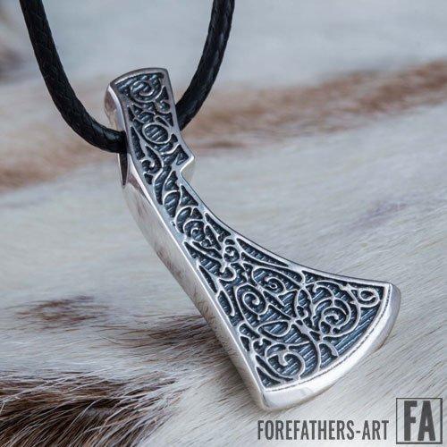 Perun Axe Pendant Norse Necklace Viking Jewelry